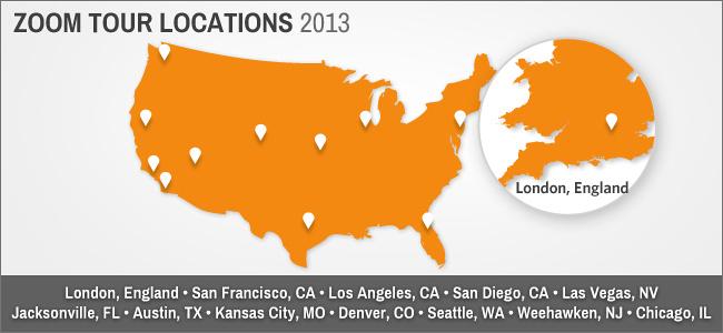 Zenfolio ZOOM Tour 2013 locations