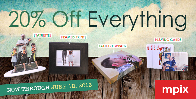 Mpix 20% off everything sale, June 9-12